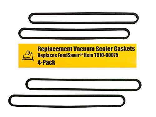 FoodSaver Upper and Lower Gasket Assembly Replacements (4 Foam Gaskets) - Fits V2200, V2400, V2800, V3000, V3200 Series Vacuum Sealers (Replaces Food Saver T910-00075) by OutOfAir (Saver Gasket Replacement Food)