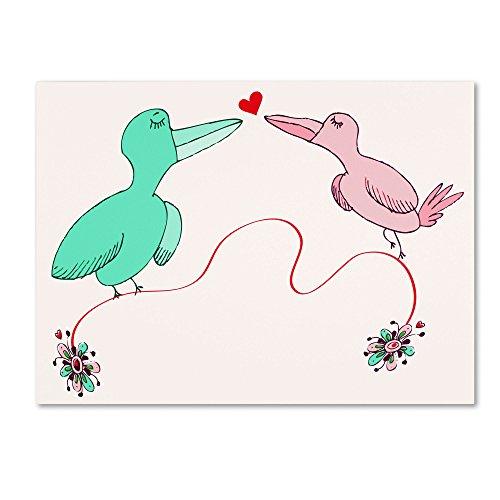 "UPC 886511530553, Trademark Fine Art ""Love Birds"" Artwork by Carla Martell, 35 by 47-Inch"