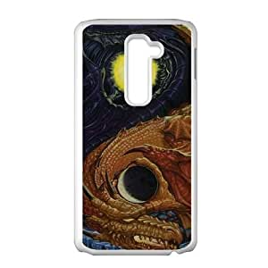 Yin Yang Dragon LG G2 Cell Phone Case White phone component RT_174389