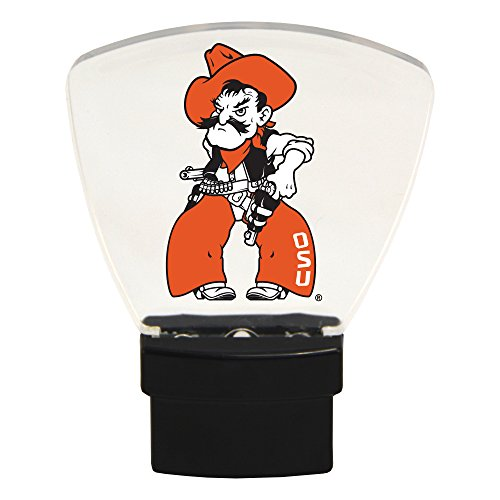 Authentic Street Signs NCAA Officially Licensed-LED NIGHT LIGHT-Super Energy Efficient-Prime Power Saving 0.5 watt, Plug In-Great Sports Fan gift for Adults-Babies-Kids Room (Oklahoma State Cowboys) - Oklahoma Led Sign