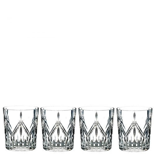 Marquis By Waterford 40032085 Lacey Double Old Fashioned Set of 4, 14 ounce, Clear