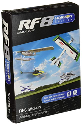RealFlight 8 RF8 Horizon Hobby Edition Add-Ons DVD Disc Only (RFL1002): Compatible with GPMZ4550 | GPMZ4555 | GPMZ4558 RF8 RC Flight Simulator Software