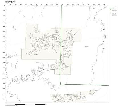 Amazon.com: ZIP Code Wall Map of Sedona, AZ ZIP Code Map Not
