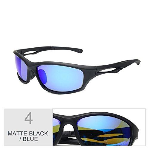 Piscina Conducción Confortable Lentes Polarizadas De Hombre TIANLIANG04 Deportivos Deporte Sol Gafas Gafas Negro Black Para Luz Matte Gris De Blue Nocturna xSqXY6X