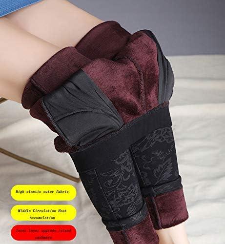 YALIXI d'hiver Leggings Femme, Automne Et Hiver Haute Élasticité Plus Velours Épaississement Respirant Chaleur Leggings De Levage des Hanches, 2 Paquets,Type a,2XL