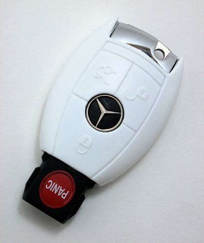 S2N White Mercedes Benz keyshirt silicone cover for C E S Class and - Fit Shape In Merced