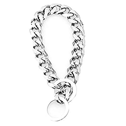 Heavy Metal 19mm Duty Solid Stainless Steel Dog Choke Chain Collar Pet Necklace for Pit Bull, Mastiff, Bulldog, Big Breeds 12 Inches-34 Inches (34inch Chain(Suggest Dog Neck - Heavy Collar Steel Choke
