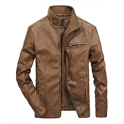 Leisure Leather Faux 3 Mens Pu XINHEO Motorcycle Biker Leather Jacket Solid Casual fqX6nwxF