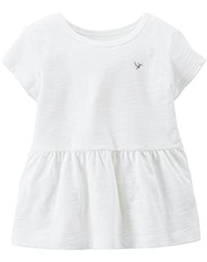 Little Girls' Slub Jersey Tee (Toddler/Kid) - Orange