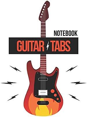 Guitar Tabs Notebook: ~ For Guitar Player | 6 Strings Guitar Chord ...