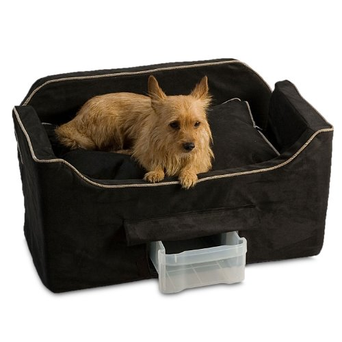 Snoozer Luxury Lookout Pet Car Seat, Large Luxury II, Black with Herringbone by Snoozer