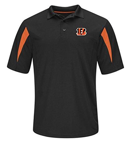 ls Pass Through Short Sleeve Synthetic Polo, X-Large, Black-Dark Orange (Denver Broncos Polo)