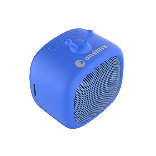 Portable Bluetooth Speakers for Kids, Ansinna K3 Bluetooth V4.1 with 3W Audio Driver Clear Sound, TF Card,Mini Bluetooth Speakers for iPhone iPad Android Tablet (Blue)