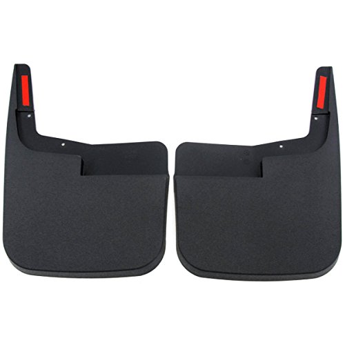 Red Hound Auto 2015-2019 Compatible with Ford F-150 Mud Flaps Guards Splash Front Molded 2pc Pair (Without Fender Flares)