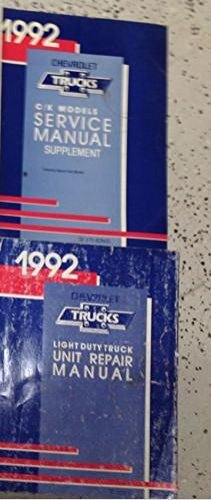 (1992 Chevrolet Chevy CK C/K TRUCK TRUCKS Service Repair Shop Manual SET UNIT +)