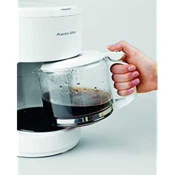 Proctor-Silex Compact 10 Cup Coffee Maker, Works with a Smart Plug, White (48350Y)