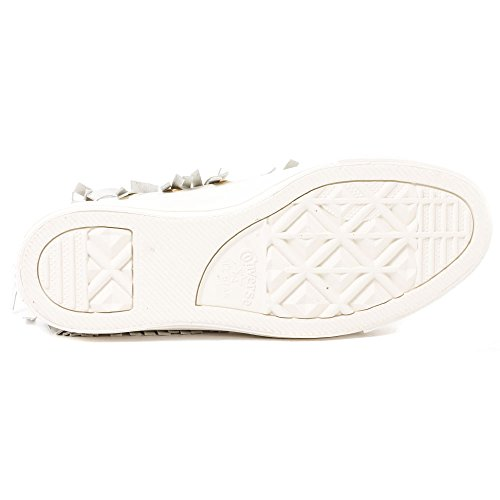 Fashion EGRET Converse Leather Top EGRET Sneaker Star EGRET All Women's Fringe High FUwFPZqx