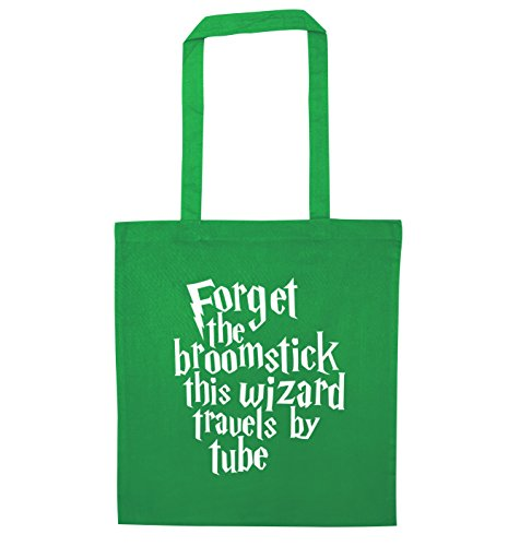 Green tube the broomstick Bag by this Creative wizard Tote Flox travels Forget c4SFPqww