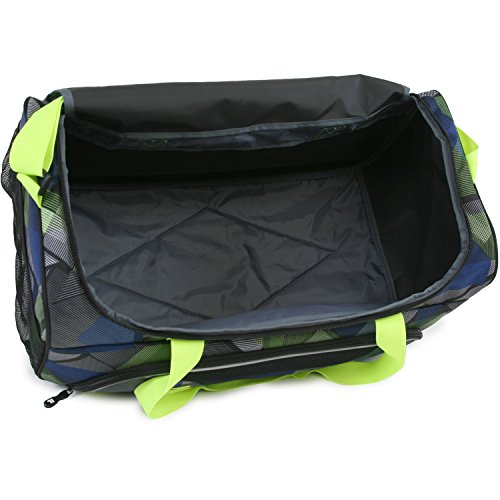 41l VAmzD4L - Fila Energy Md Travel Gym Sport Duffel Bag, Abstract Neon