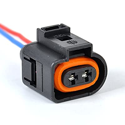beler Ambient air temperature sensor & Electrical 2 Pin Connector Plug Wiring Harness Fit for Audi VW: Automotive