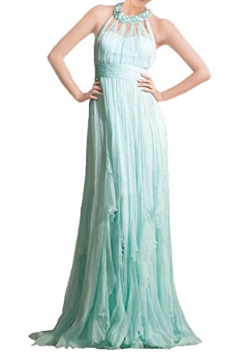 Halter Gown Turquoise Avril Dress Bridesmaid Dress Length Floor Chiffon Party Glamorous EwfawzqO