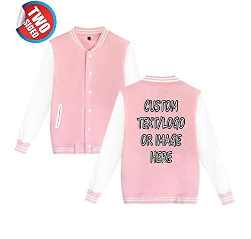 Unisex Custom Varsity Jacket Personalized Baseball Jacket Uniform Sweater Coat for $<!--$23.99-->