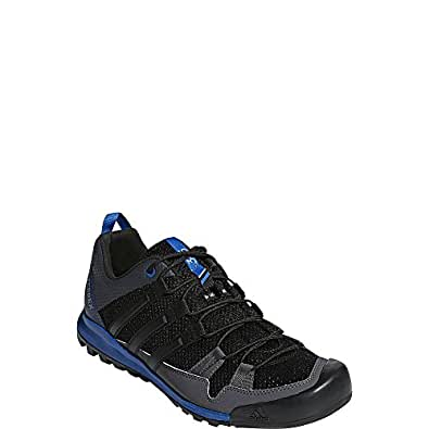 adidas outdoor Mens Terrex Solo Shoe (6 - Black/Black/Blue Beauty)