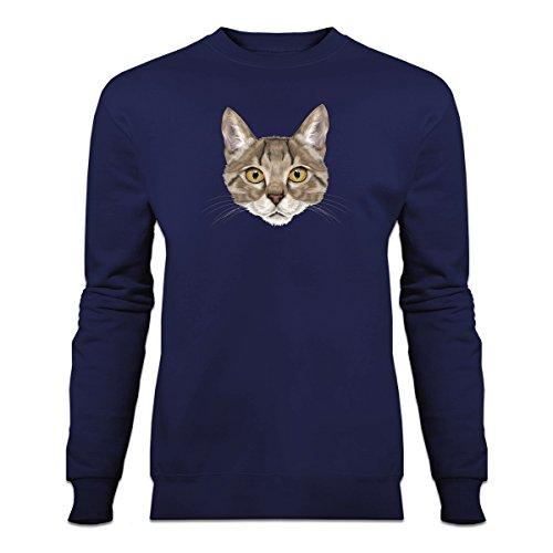 Shirtcity Bengal Cat Sweatshirt L Blue