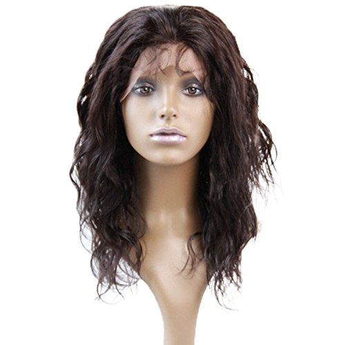 Beautiful Lace Front Wig Peruvian Virgin Remy Human Hair Body Wave Color #2