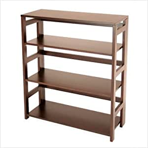 Bookcase - Flip-Flop 6 Shelf Folding Bookcase - HBCF6730
