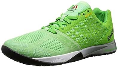 Reebok Women's Crossfit Nano 5.0 Training Shoe, Seafoam Green/Bright Green/White/Tin Grey/Black/Shark, 5 M US