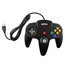 Childhood Gamelink Retro Classic USB Controller Gamepad Joysticks for N64 Style MAC PC Black