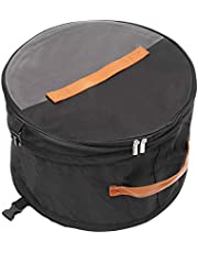 Foldable Round Storage Box with Lid, Large Premium Hat Pop up Storage Bag, Moisture and Dustproof. Travel Hat Bag for Women and Men, 17 Inch,Black