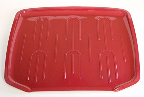 Kitchen Counter Utility Drain Board Red for Dishes