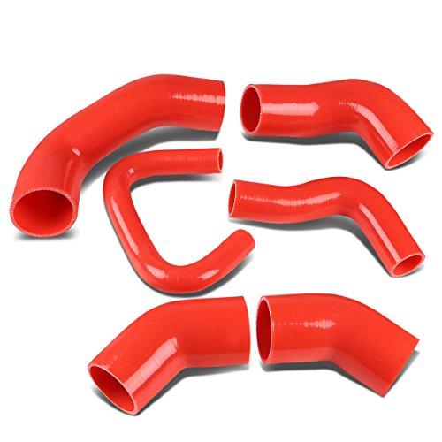 - For Mitsubishi Lancer Evolution Turbo Intercooler Silicon Hose Piping Kit Set (Red) - 8 9 VIII IX