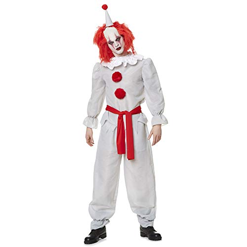 Killer Clown Costume - Halloween Adults Scary Horror Evil Villain Outfit, Medium