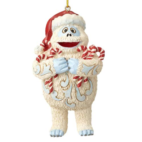 Department56 Enesco Jim Shore Rudolph Traditions 6001597 Bumble Holding Candy Canes Nanging Ornament ()