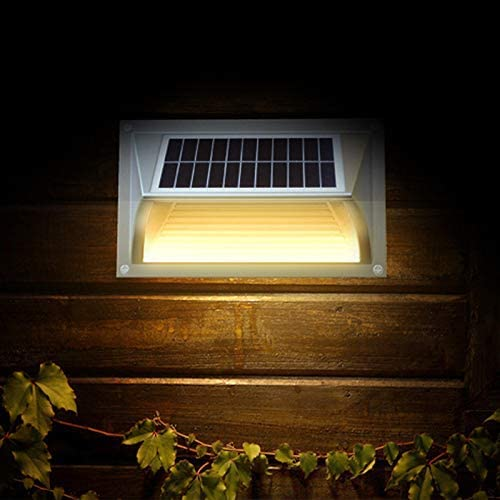 LLLKKK Zonnewandlamp Zonne-energie Landschap Wandlamp Outdoor Waterdichte Lichaam Inductie Lamp Binnenplaats Hall Gazebo Lamp 5 Stks Beeld Kleur