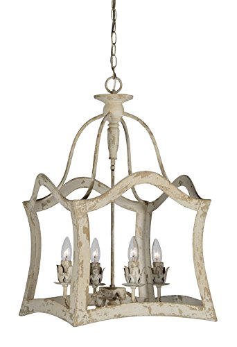 Wood Framed Aged Aubrey Chandelier Antique Style Light Great Price