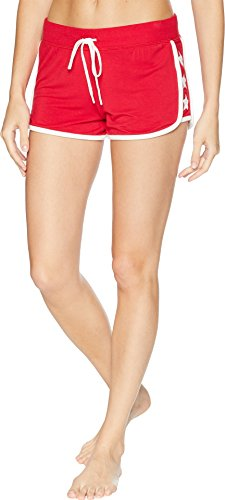 PJ Salvage Women's 76 Vibes Track Short, Red, M