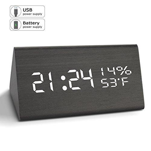 Alarm Clock  Digital Clock  3 Brightness Levels  3 Sets Ac Alarm Clocks Bedrooms  Electronic Usb Large Led Display Dual Time Temperature Humidity Heavy Sleepers