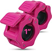 """Day 1 Fitness Quick-Release Safety Collars Set of 2 – Choose Size 1"""" or 2"""" -5 Color Options, Weight Locking Cl"""