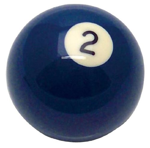 American Shifter 96047 Solid Blue 2 Ball Billiard Pool Shift Knob