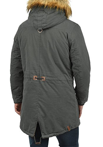 Grey Men's 2890 Size Parka Colour Solid Dark M Vidage Cg5w0qxS