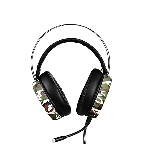 XHKCYOEJ Headset Stereo Headset/Headphones/Headphones/Computers/Games,Camouflage: Amazon.co.uk: Electronics