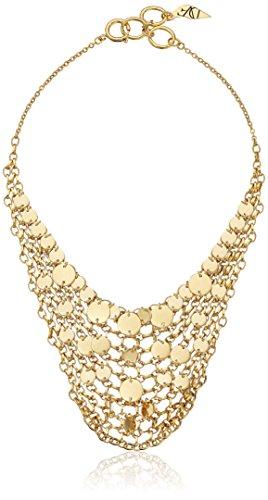 Diane von Furstenberg ''Summer Disco'' Circle Mesh Chain Bib Necklace, 18'' by Diane von Furstenberg