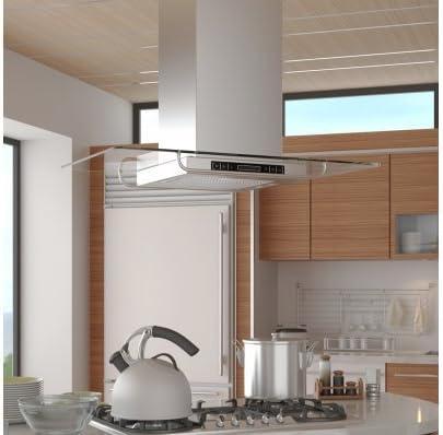 Campana extractora de cocina ultramoderna para isla: Amazon.es: Grandes electrodomésticos