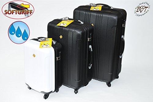 3pezzi set valigetta, Trolley valigetta, business Nero, Pilot-divisione offerta Set, hardcasek Offer Top, resistente, dimensioni: altezza:-circa 80cm/larghezza-circa 50cm/profondità-circa 30cm//circa 70x 45x 25//circa 50x 35x 22