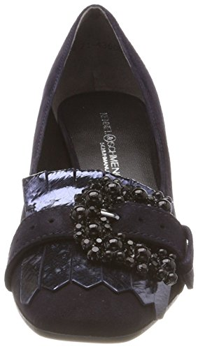 Cerrada Tacón und Weiß Black Punta Kennel de Schuhmanufaktur Blau Isabel Schmenger Sohle Mujer para Zapatos con Ocean gHnYUzH