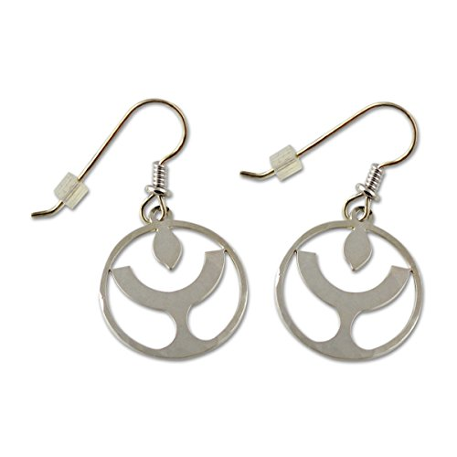 - Unitarian Universalist Flaming Chalice Silver Earrings - 3/4